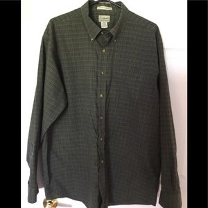L.L Bean XL 100% cotton shirt long sleeve